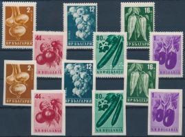 1958 Zöldségek fogazott és vágott sor Mi 1079-1084 A-B