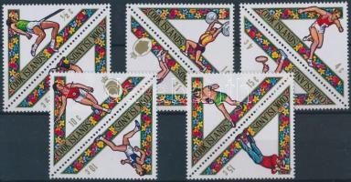 1969 Dél-csendes óceáni sportjátékok 5 pár Mi 218-227 + blokk Mi 4 (2 stecklapon)