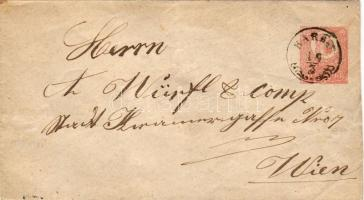 1872. 5kr díjjegyes boríték/ 5kr GA-Umschlag KARÁD-WIEN