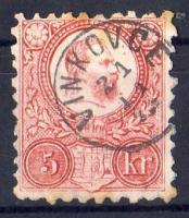 1871 5kr/MI 10 VINKOVCE gyűszűbéylegző/Fingerhutstempel