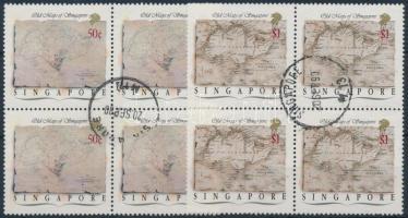 1989 Térkép 2 záróérték négyestömbökben Mi 577-578