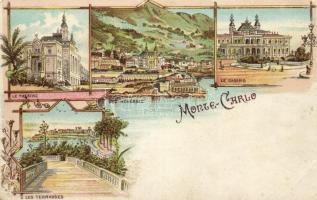 Monte Carlo, Art Nouveau, litho