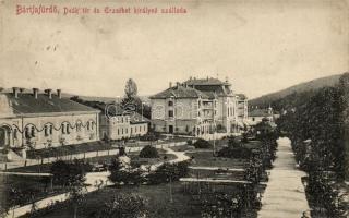 Bardejovské Kúpele, square, hotel, Bártfafürdő, Deák tér, Erzsébet királyné szálloda