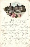 1897 Erlangen, university, litho