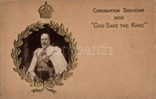1902 H.M. King Edward VII. Coronation Souvenir, 1902 VII. Edward brit király, koronázási ajándéktárgy