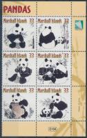 2000 Panda sor ívsarki 6-os tömbben Mi 1318-1323
