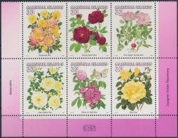 2000 Rózsák sor ívsarki 6-os tömbben Mi 1297-1302