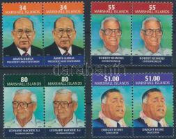2001 Elnökök (I.) sor párokban Mi 1431-1434