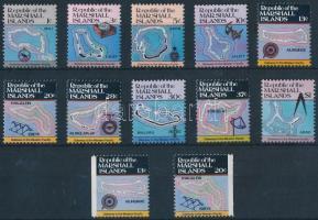 1984 Szigetek sor Mi 5-14 A + 9-10 D
