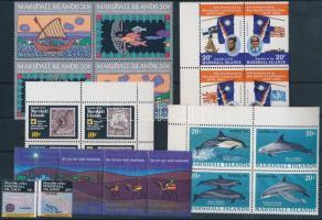 1984 22 db bélyeg, közte teljes sorok, ívszéli értékek és összefüggések