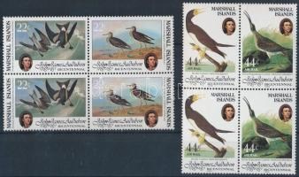 1985 Madarak sor 4-es tömbökben Mi 31-34