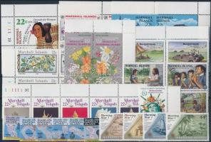 1985-1986 10 db teljes sor, közte ívszéli értékek és összefüggések