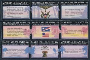 1987 200 éves az USA alkotmánya sor 3-as csíkokban Mi 125-133