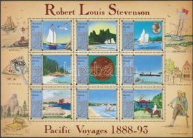 1988 Robert Louis Stevenson hajóútjai kisív Mi 176-184