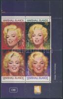 1995 Marilyn Monroe sor ívsarki 4-es tömbben Mi 593-596