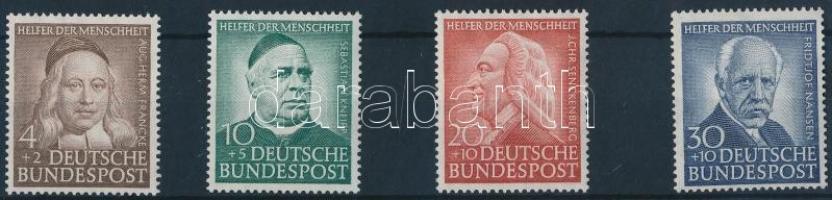 1953 Az emberiség jótevői sor Mi 173-176