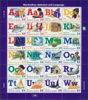 1998 Ábécé és nyelv kisív Mi 1035-1058