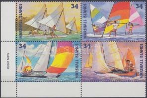 2001 Vitorláshajók sor ívsarki 4-es tömbben Mi 1457-1460