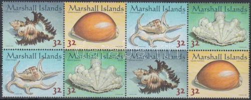 1998 Csigák és kagylók sor 8-as tömbben Mi 948-951