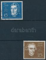 1959 A bonni Beethoven-csarnok blokkból kitépett bélyegek Mi 316, 318
