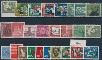 1961-1964 13 klf sor + 34 klf önálló érték 3 db stecklapon