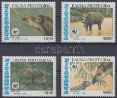 1985 WWF: Tapír sor + 4 db FDC és CM Mi 2627-2630