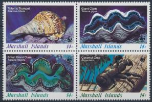 1986 WWF: Kagylók sor négyestömbben Mi 73-76