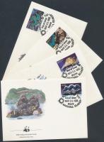 1986 WWF: Kagylók sor 4 db FDC-n Mi 73-76