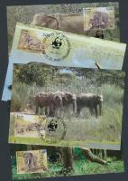 1986 WWF: Elefánt négyescsík 4 db CM-en Mi 753-756