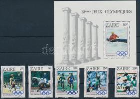 Zaire 1984 Nyári Olimpia, Los Angeles ívszéli sor Mi 861-865 + blokk 49