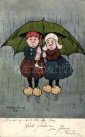 Dutch couple; M. Munk Vienne Nr. 185 s: Shepheard, Holland pár; M. Munk Vienne Nr. 185 s: Shepheard