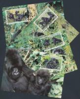 1985 WWF: Gorilla sor 4 db CM-en Mi 1292-1295