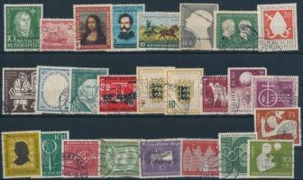 1952-1956 2 klf sor + 21 klf önálló érték 3 db stecklapon