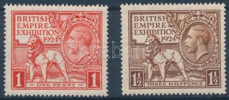 1924 Kiállítás Wembleyben sor Mi 166-167