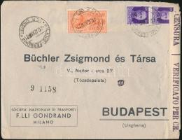 1942 Cenzúrás expressz levél Budapestre