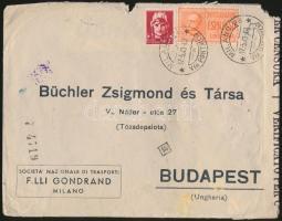 1943 Cenzúrás expressz levél Budapestre