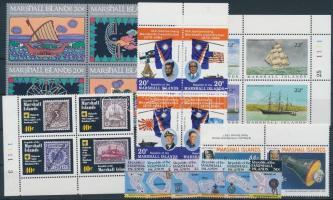 1984-1987 23 db klf bélyeg, közte teljes sorok, ívszéli értékek és összefüggések