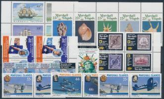 1984-1987 30 db klf bélyeg, közte teljes sorok, ívszéli értékek és összefüggések