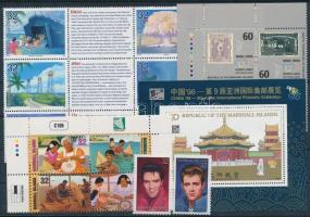 1996 16 db klf bélyeg, közte teljes sorok, ívszéli értékek és összefüggések + 1 db blokk