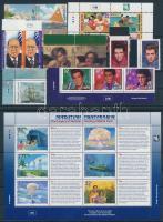 1996-1997 18 db klf bélyeg, közte teljes sorok, ívszéli értékek és összefüggések + 1 db kisív, 2 db stecklapon