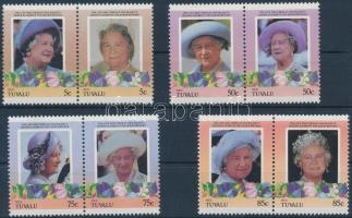1985/1986 Queen Elizabeth set in pairs, 1985/1986 Erzsébet anyakirályné sor párokban