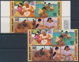 1997 Hagyományos kézművesség sor és öntapadós változata Mi 826-829 A + AB