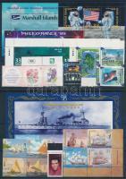 1996-2001 19 db klf bélyeg, közte teljes sorok, ívszéli értékek és összefüggések + 4 db blokk, 2 db stecklapon