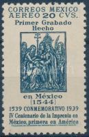 1939 Az első amerikai nyomda megalapításának 400. évfordulója Mi 772 Y