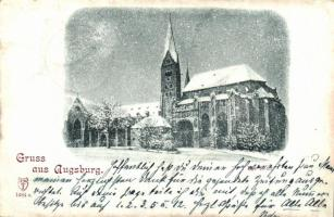 1898 Augsburg, cathedral, winter