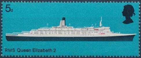 1969 Brit hajó Mi 498 (hiányzó foszforcsík)