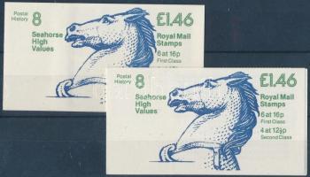 1983 II. Erzsébet királynő 2 bélyegfüzet MH 64-65 (Mi 901 I, 947 I)
