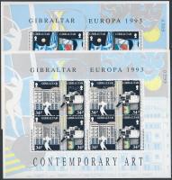 Europa CEPT Contemporary Art minisheet (small gum disturbance on margin), Europa CEPT: Kortárs művészet kisívsor (apró gumihiba és sérülés az ívszélen)
