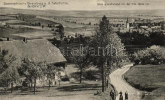 Ulicko, Swieradów-Zdrój / Strassberg an der Tafelfichte, Meffersdorf; Blick von der Villa Maria / view