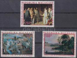 1969 Festmények 3 db bélyeg Mi 598 + 606-607